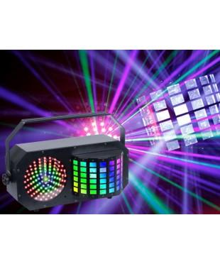 Light Emotion DERBY3 3-in-1 Lighting Effect: Derby, LED Strobe and flood light and RGB Laser