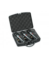 Wharfedale DM5S3 Super Cardioid Dynamic Microphone 3 pack in case