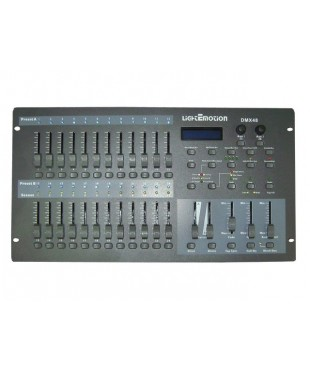 Light Emotion DMX48 48 Channel DMX controller with 12 scenes per page and 8 pages