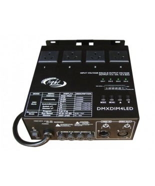 Light Emotion DMXDIM4LED DMX Dimming Pack 4 Channel suitable for LED fixtures, chasing function.