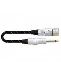 SoundKing FCMJML10 XLR 3-F to TS-M 6.5mm Jack Signal Lead (10m) Microphone lead