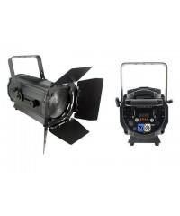 Light Emotion Professional FRES200WW 200w Warm White LED Fresnel with Barn Doors 15-55 degree zoom