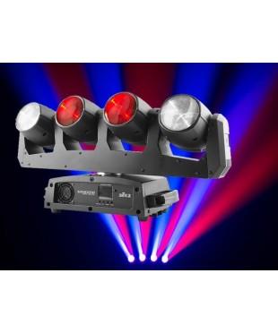 Chauvet INTWAVE360 Intimidator Wave 360 - 4 x 12W RGBW LED Moving Heads on one moving base