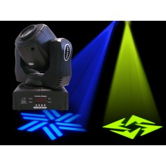 Light Emotion LE60 60w LED Moving Head. Colours, gobos, pan & tilt.