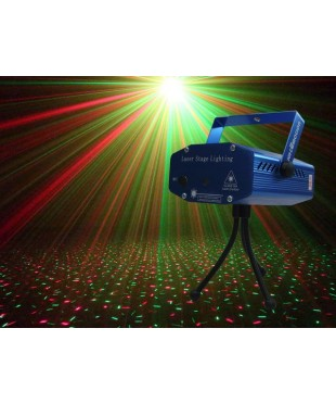 Light Emotion MLRG Red & Green Mini Laser with Stand. 50mW Green, 100mW Red