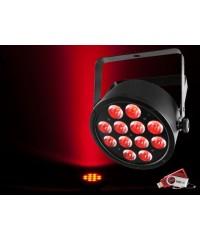 Chauvet SLIMPART12U Slim Par 12x 3-in-1 3W TRI LEDs with USB D-Fi Compatibility