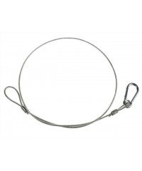 SW3X800PC Safety wire, 3mm steel, 800mm long PVC coated. 230kg dead weight breaking point