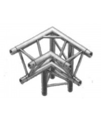 TT3CH Truss tri truss 290mm x 90deg 3 way corner with apex down (right/apex back)), 2mm thick with global compatible connection